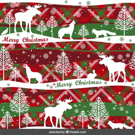 christmas pattern ai christmas pattern with animals vector free download