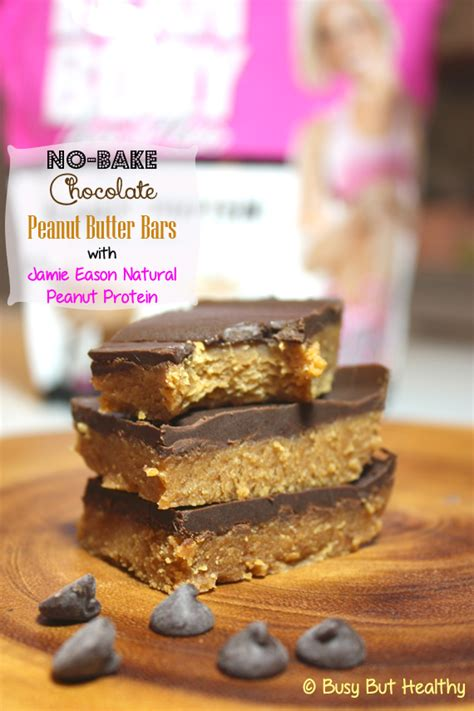 no bake peanut butter bars with chocolate on top no bake chocolate peanut butter bars with jamie eason
