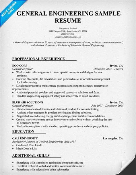 General Engineering Resume Sle Resumecompanion Com Resume Sles Across All Industries Creative Engineering Resume Template