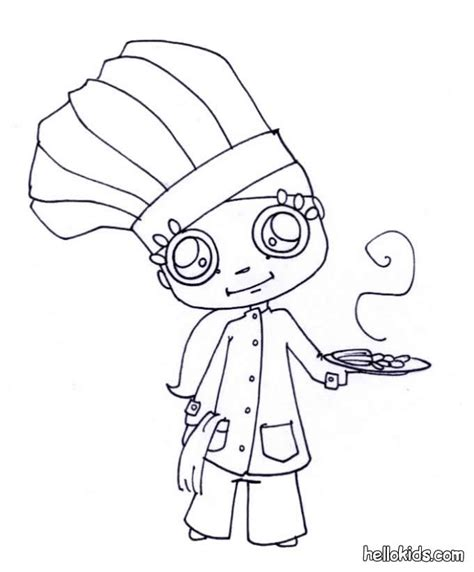 Cooking Coloring Pages Coloring Home Cooking Coloring Pages