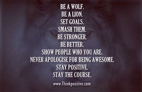 Be A Wolf, Be A Lion