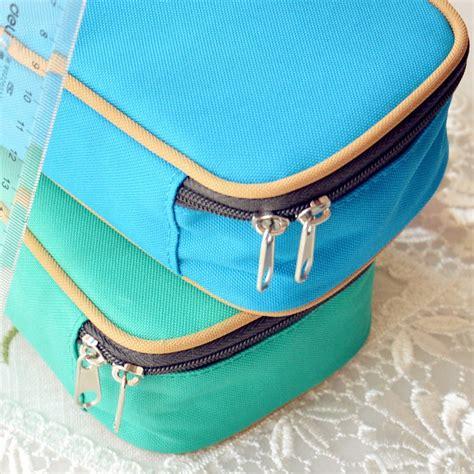 Tempat Pensil Canvas Kawaii Diy kotak tempat pensil canvas multifungsi blue