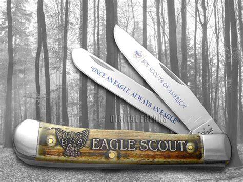 eagle scout pocket knife xx eagle scout commemorative trapper 1 250 pocket
