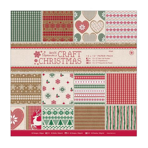 Paper Packs For Card - 12 x 12 quot paper pack 32pk craft docrafts