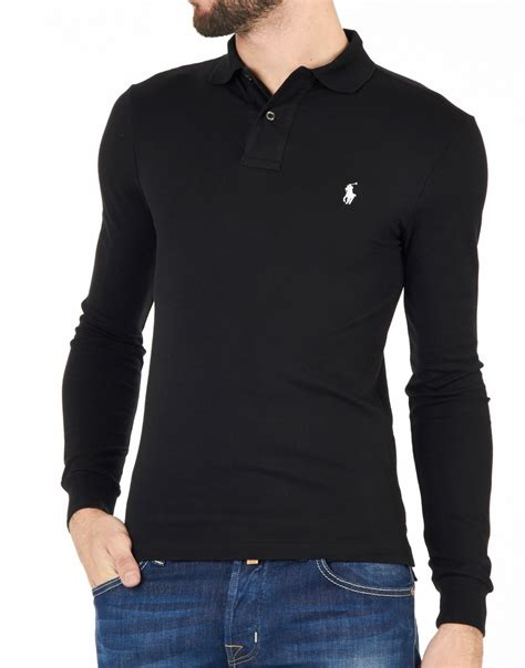 Polo Ralph Laurent heren polo ralph polo longsleeve slimfit polo