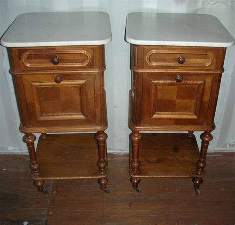 best bedside tables a pair of walnut french marble top bedside tables