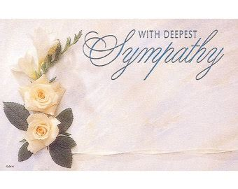 Funeral Flower Cards Templates by Deepest Sympathy Clipart 49