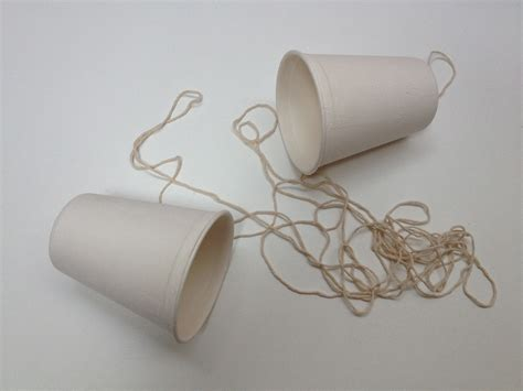 How To Make A Paper Cup Telephone - experiment se