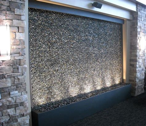 custom pebble water feature for olathe medical center www bluworldusa com water features in
