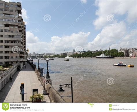 thames river bank river thames south bank london stock photography image