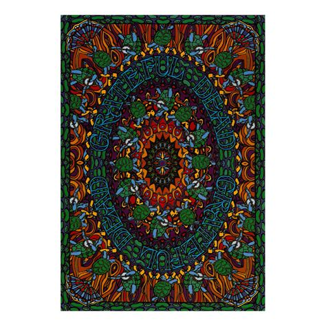 grateful dead home decor grateful dead gd terrapin dance tapestry liquid blue