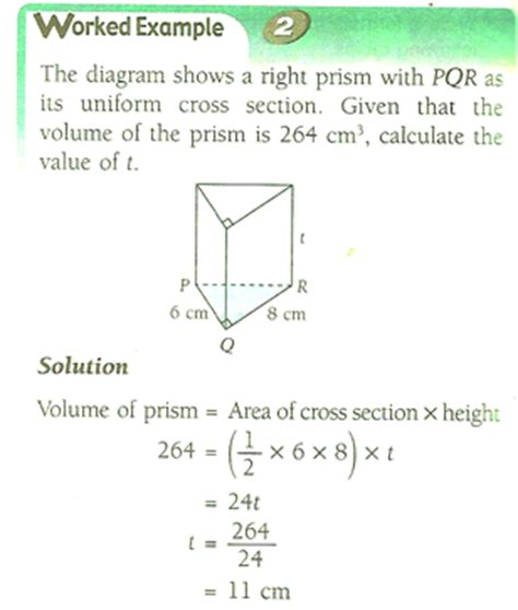 cross sectional area of a circle calculator tcher ct s math class prism