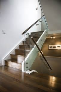glass banister for stairs made maple stair with glass railing and stainless