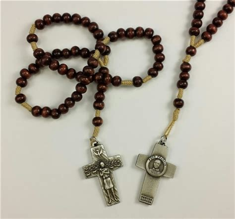 franciscan rosary franciscan rosary with pope francis cross