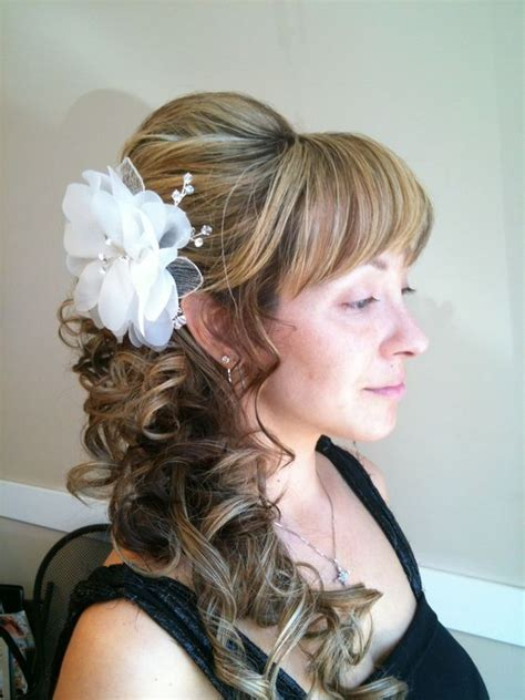 side curls hairstyles pinterest loose curl side ponytail updo hair styles pinterest
