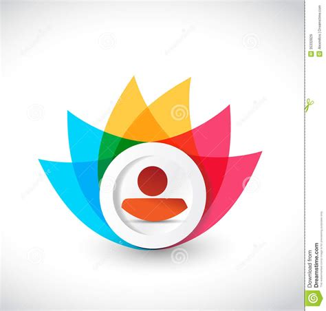 design free stock photo illustration of a colorful color avatar icon flower illustration design royalty free