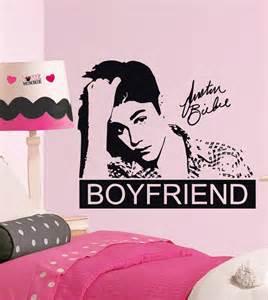 Justin Bieber Wall Stickers Justin Bieber Boyfriend Quote Decal Wall Sticker Art Decor