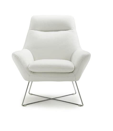 White Leather Accent Chair Livorno White Italian Leather Modern Accent Chairs Contemporary Accent Chairs