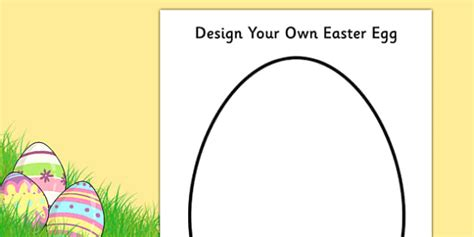 easter card templates twinkl design an easter egg a4 activity sheet design creative