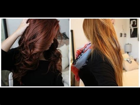 brown to red hair without bleach youtube from red to light brown blonde without bleach color oops step by step youtube also from