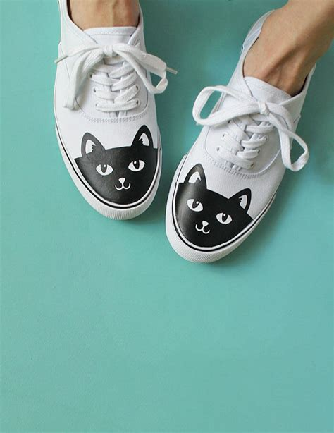 diy shoes diy cat shoes how to add heat transfer vinyl to shoes