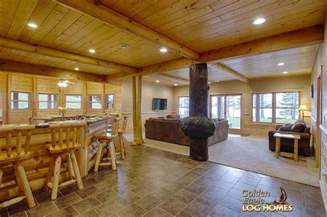 lower level family room bar area