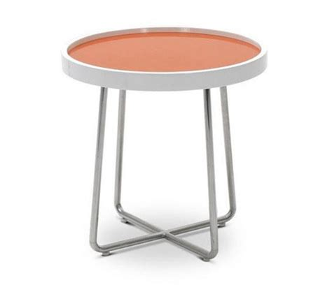 Orange Side Table Dreamfurniture 213b Modern Orange End Table