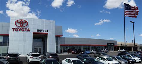 Hoy Fox Toyota Parts Hoy Fox Toyota In El Paso Tx 915 598 0399