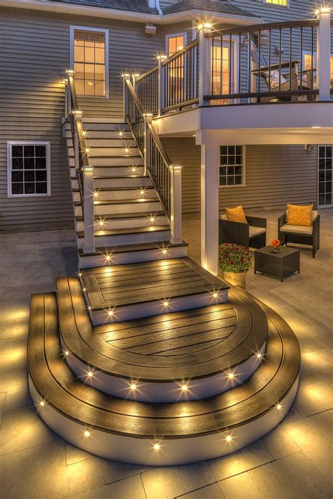Exterior Patio Lighting Best 25 Patio Stairs Ideas On Pinterest Porch Stairs Steps For Deck And Front Porch Deck