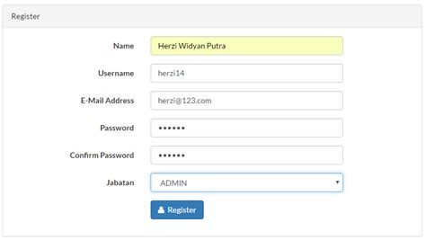 cara membuat hak akses di phpmyadmin membuat login laravel 5 2 dengan username dan hak akses