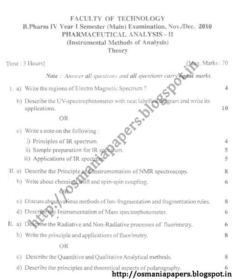 Ou Mba 4th Sem Subjects by Fourth Year Semester 2010 Osmania