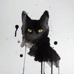 water color cat black cat watercolor by excentric on deviantart