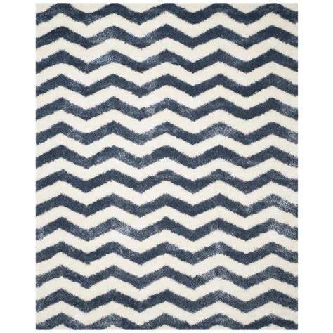 cheap rugs montreal shop safavieh montreal neuville shag ivory blue indoor area rug common 9 x 12 actual 8 5 ft