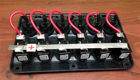 boat switch panel 6 gang marine boat ip65 switch panel 6 gang led switches
