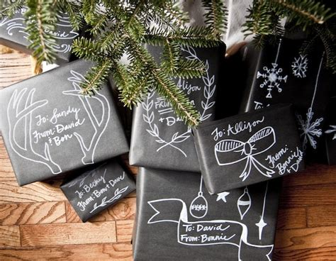 Chalkboard Craft Paper - tutorial chalkboard gift wrap going home to
