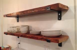 48 x 9 5 reclaimed wood shelf with two handcrafted by
