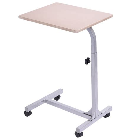 adjustable height rolling work table us home adjustable wooden laptop table stand work study