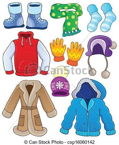 imagenes de ropa de invierno y verano eps vector de invierno ropa colecci 243 n 3 eps10