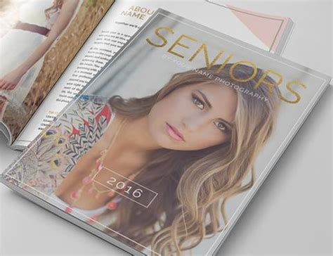 Photography Magazine Template Senior Year Senior Magazine Template