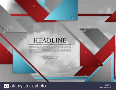 geometric graphic design layout abstract geometric brochure template layout with grey sky