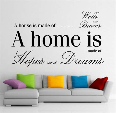 Quotes For Home Decor Wall Ideas Design Decor Home Wall With Quotes Sticker Family Inspirational Text