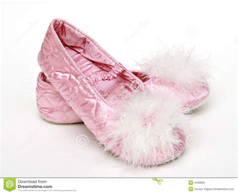 pink satin slippers pink satin slippers royalty free stock images image 4100809
