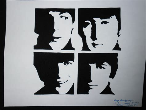 Kaos The Beatles Logo Stencil beatles stencil www imgkid the image kid has it