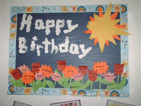Happy Birthday Bulletin Board Suggestion