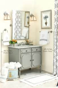 how to decorate your home proper height for towel bars and rings how to decorate