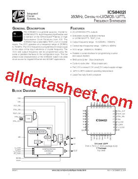 integrated circuits pdf file ics8402i datasheet pdf integrated circuit systems