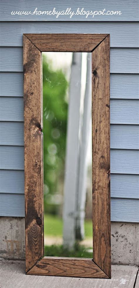 diy rustic mirror home by ally