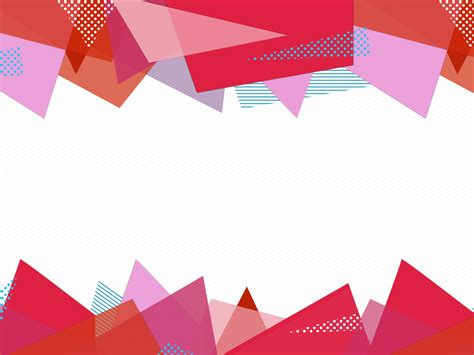 Stationery Paper Triangles PPT Backgrounds   Abstract, Red