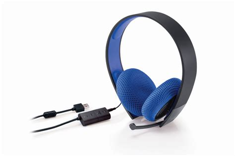 Headset Ps3 sony reveals new playstation silver wired stereo headset playstation 4