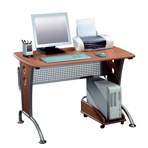 techni mobili computer desks techni mobili karah wood top computer desk in honey
